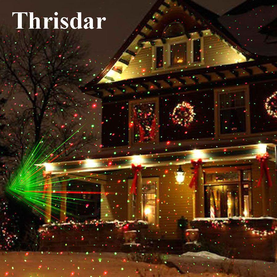Mobile extérieure Plein Ciel Étoile De Noël Lampe de Projecteur Laser Vert et Rouge A MENÉ LA Lumière D'étape Paysage Extérieur Lumière de Jardin De Pelouse