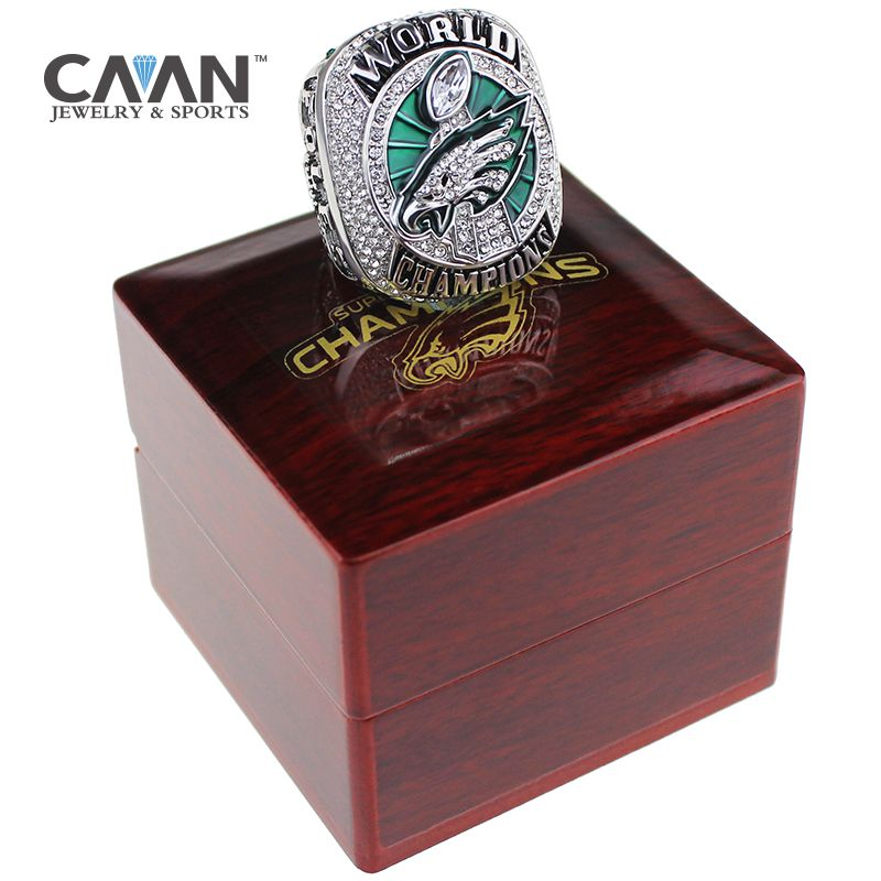 Drop shipping Philadelphia 2017-2018 Eagles Ring Championship ring FOLES and WENTZ size 7-14 for Fans