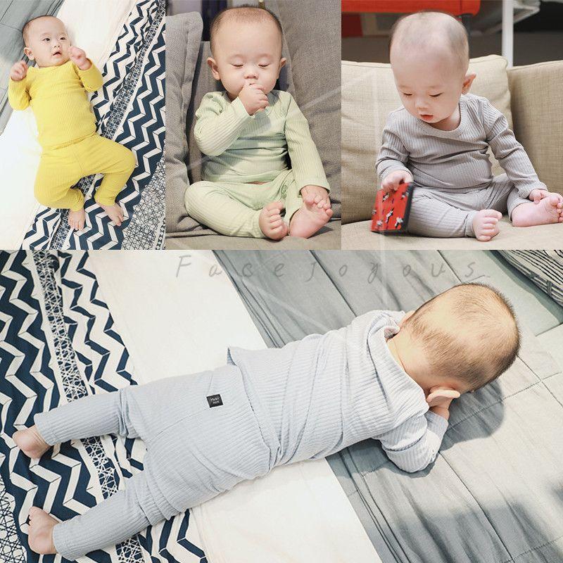 Baby Boy Clothes 2 Piece Set Boys Long Sleeve T-shirt + Leggings Pants Suit Children's Pajamas Sets For Boys Home Wear