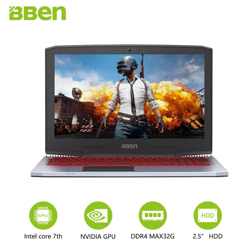 BBEN G16 Gaming Laptops Intel Core i7 7700HQ Nvidia GTX1060 PC Tabletten 15,6
