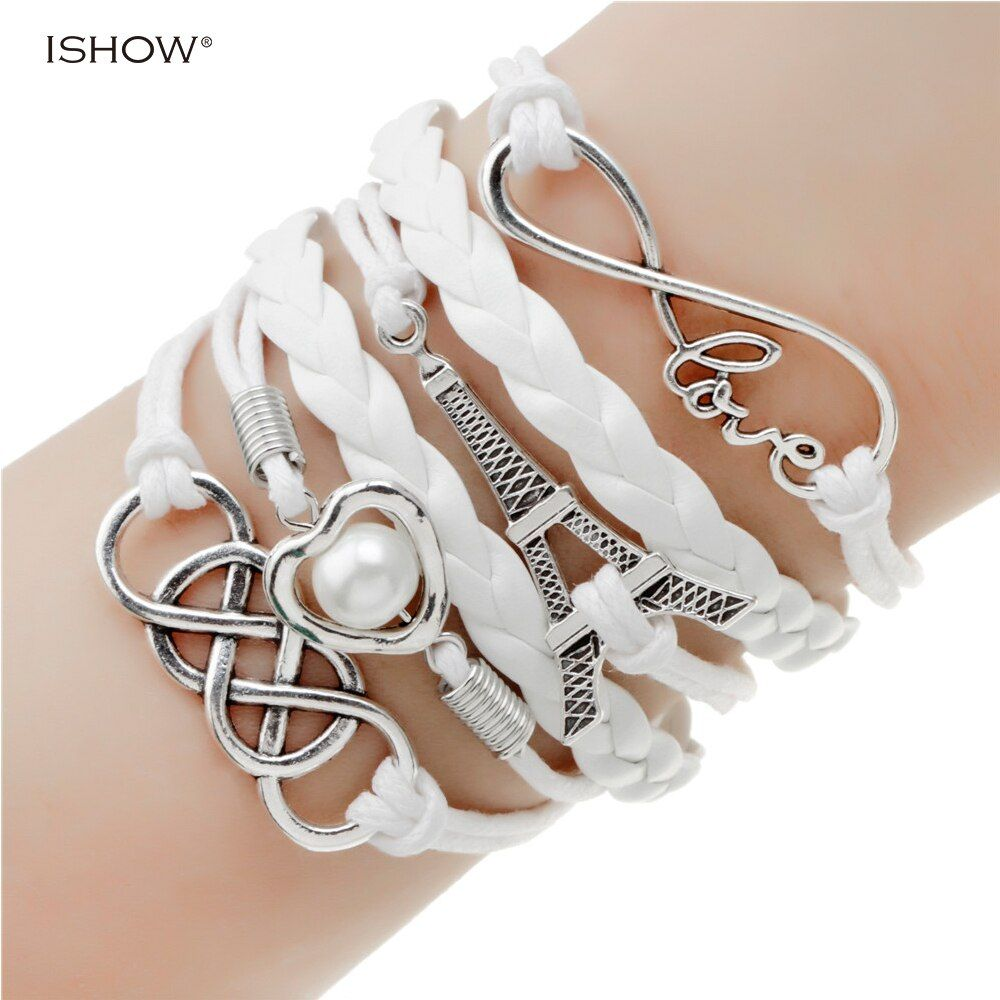 new fashion jewelry infinite double leather multilayer Charm  bracelet factory price for woman jewelry wholesale