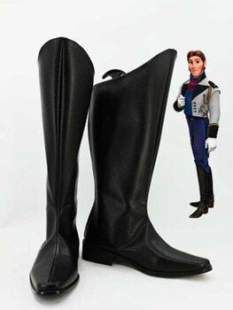 Anna Prince Hans Cosplay Boots Men Cosplay Costume Party Shoes Custom Made Boots