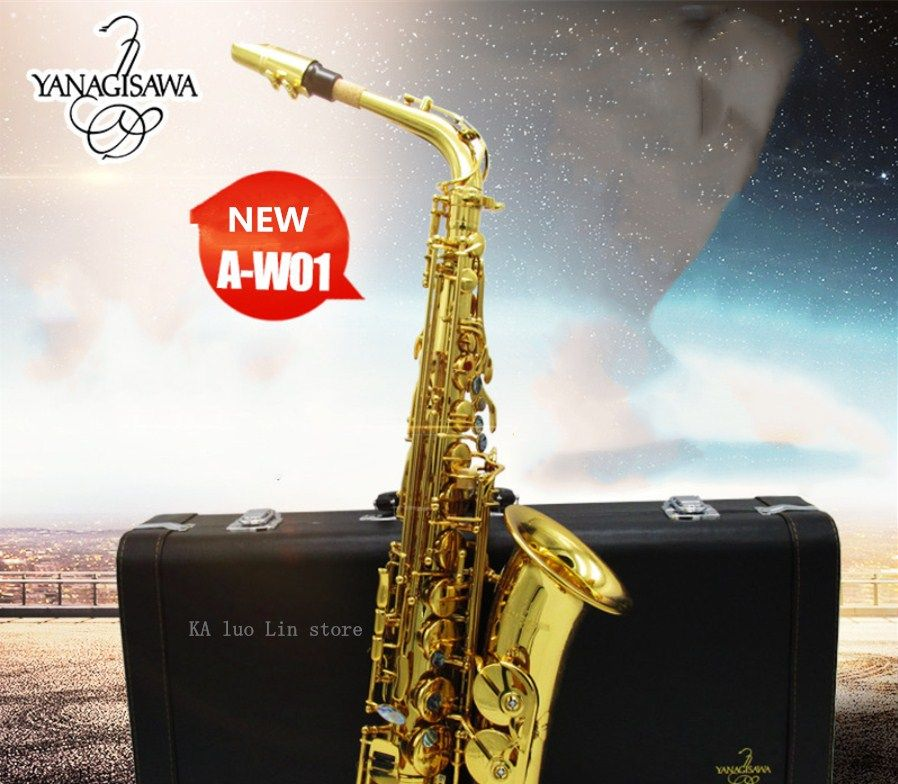 2018 New arrival YANAGISAWA W01 Alto Saxophone Eb playing professional sax musical instrument High Quality alto saxophone Free