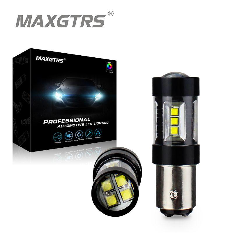 2x S25 1157 80W BAY15D Cree Chip XBD LED Bulb P21/5W Car Reverse Backup Brake Light Turn Parking Signal Light White/Red/Amber
