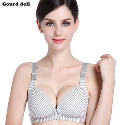 Gourd doll Wire Free Breastfeeding Maternity Nursing Bra Cotton sleep bras nursing pregnant women Pregnancy underwear clothing