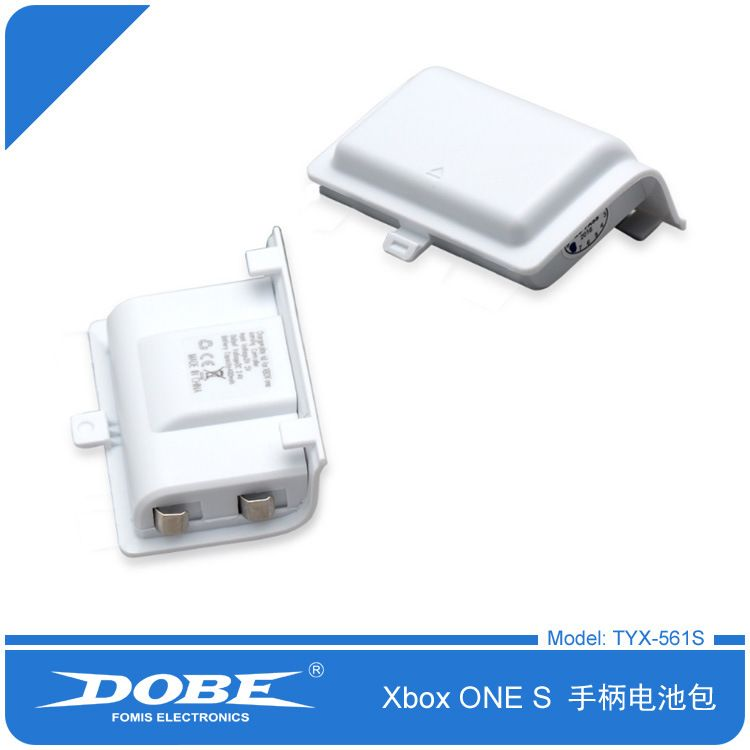 Foleto 1200mAh Rechargeable Replacement Battery Pack for XBOX ONE Controller with Charge Cable (White)