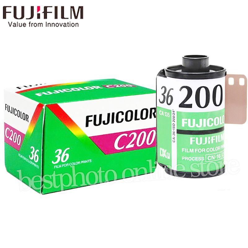 1 Roll/lot Fujifilm Fujicolor C200 Color 35mm Film 36 Exposure for 135 Format Camera Lomo Holga 135 BC Lomo Camera Dedicated