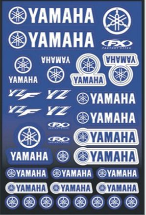 Free shipping for YZF YZ Waterproof Vinyl Adhesive Motorcycle Sticker 1 Sheet 30x45cm Racing Motocross Dirt Pit Bike Sticker