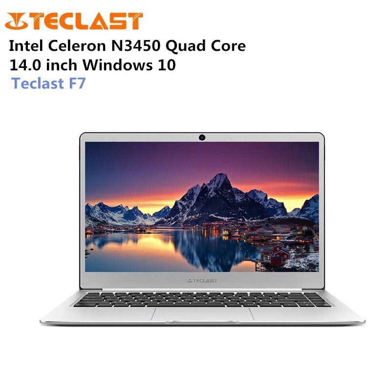 Teclast F7 Laptop Windows 10 14.0 inch Notebook Intel Celeron N3450 1.1GHz Quad Core 6GB RAM 128GB eMMC M.2 SSD Expansion HDMI