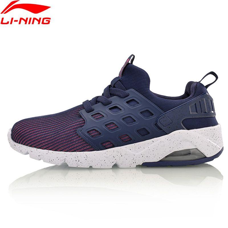 Li-Ning Women's Bubble Ace Streetwear Walking Shoes Mono Yarn Cushion Breathable LiNing Sneakers Sport Shoes AGLM022 YXB066
