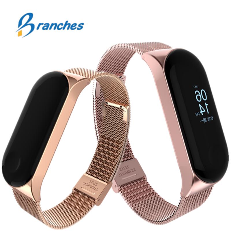mi band 3 bracelet for Xiaomi mi band 3 strap Metal wrist strap Screwless Stainless Steel Bracelet Wristbands Mi Band 3 strap