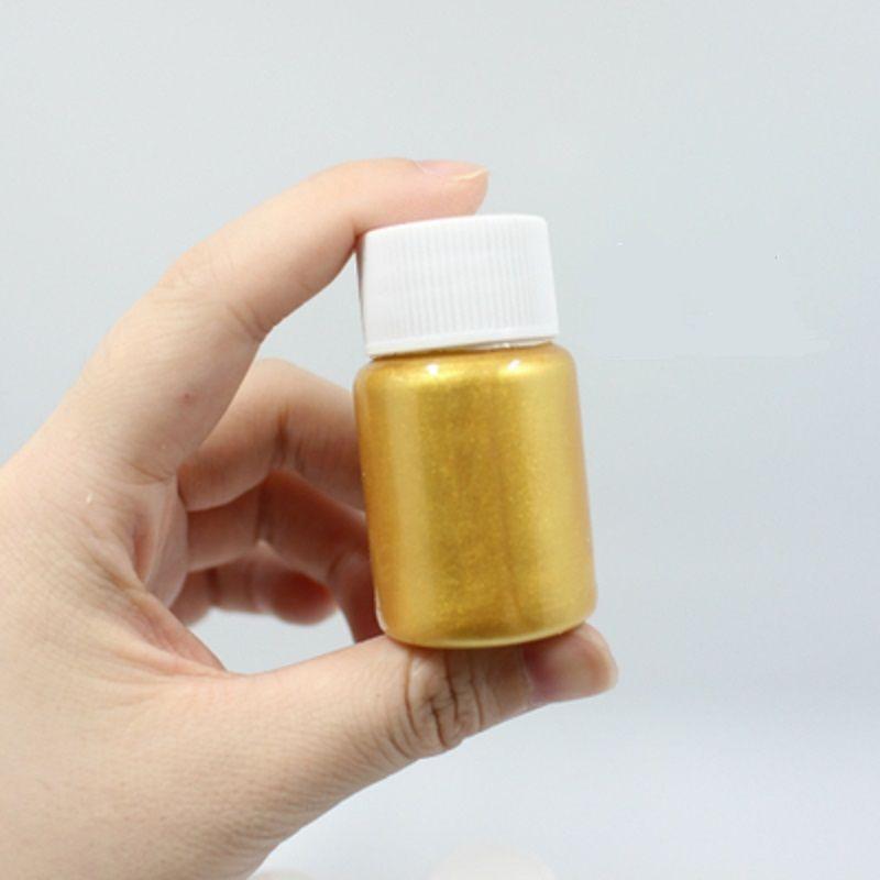 Peinture supplémentaire de peinture acrylique de Novice de Pigment d'or de petit paquet portatif 25 ML