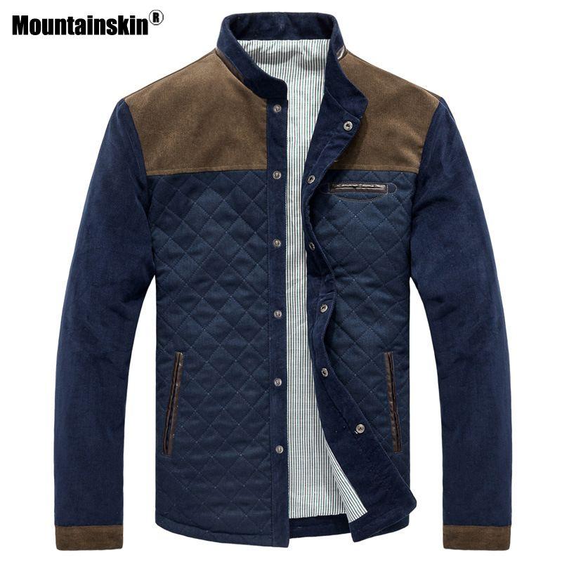 Mountainskin Spring Autumn Men's Jacket Baseball Uniform Slim Casual Coat Mens Brand Clothing Fashion Coats Male Outerwear SA507