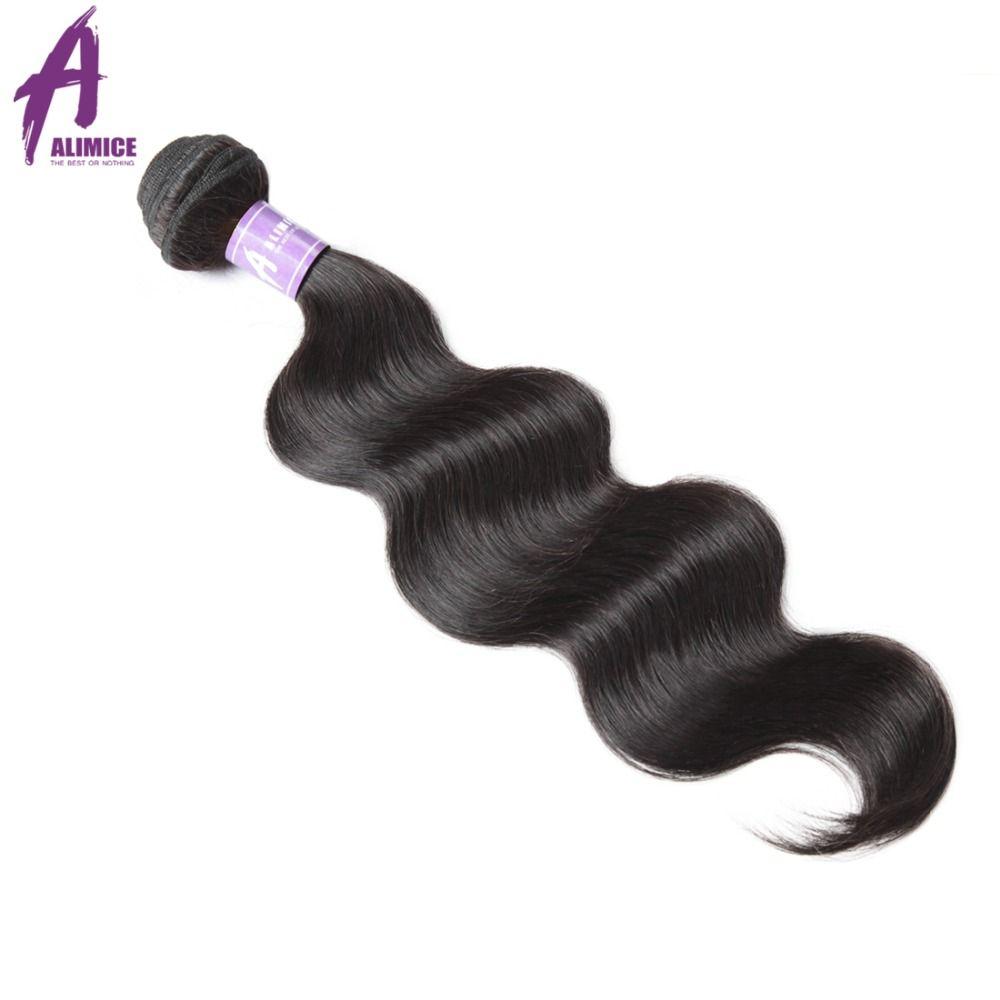 Малайзии тела волновые пучки волос 100% человеческих волос Weave пучки Alimice волос Номера-Реми плетения волос 100 г Натуральный Цвет