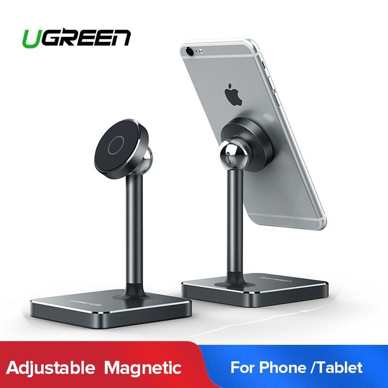 Ugreen support de téléphone magnétique Pour iPhone XS Max 7 Plus Aimant téléphone portable Support De Bureau support pour samsung téléphone portable Stand de Support