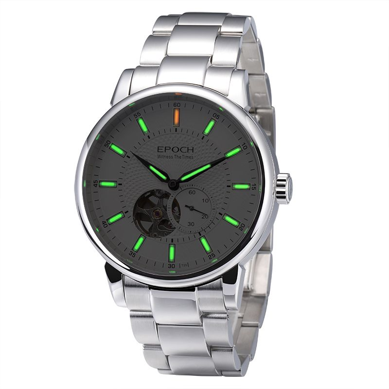 (NEW)EPOCH 6039G Waterproof 100m Tritium Luminous Dual Calendar Men Business Automatic Mechanical Wrist Watch With Date And Week