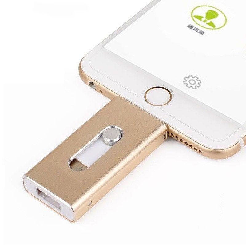 Dropshipping USB Flash Drive Pour iPhone X/8/7/7 Plus/6/6 s/ 5 ipad Métal Pen drive HD Mémoire Bâton 8g 16g 32g 64g 128 4gflash Pilote