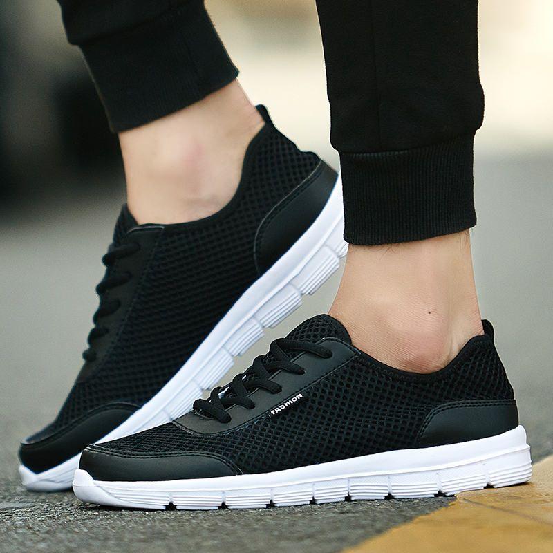 PINSV Zapatos Para Correr Para Hombre Zapatos Deportivos de Color Negro Hombres Hombres 2017 Zapatillas de deporte de Las Mujeres Respirables Calcados Femininos Krasovki Spor