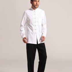 Chino tradicional ropa Kung Fu ropa cheongsam camisa manga larga para hombres chino Tang traje para hombre masculino superior para hombre