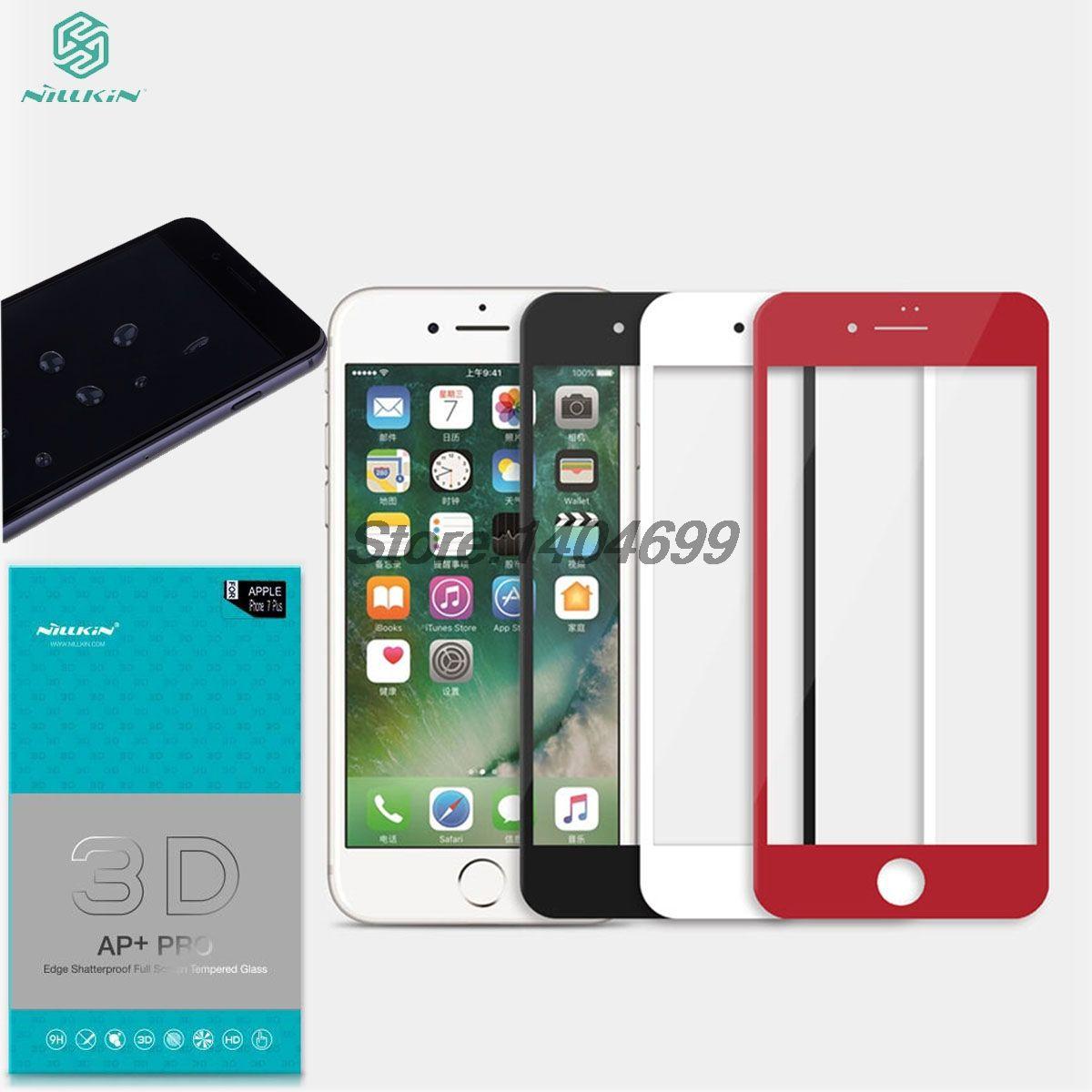 СПС Apple iPhone 7 Plus закаленное Стекло 5.5 дюймов Nillkin 3D AP + Pro Полное покрытие Экран протектор для Iphone 7 4.7 дюймов 6 6 S