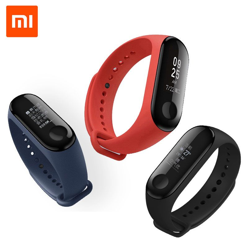 Original Xiaomi Mi Band 3 Mi Band 2 Smart Bracelet Android Activity Fitness Wristbands 0.78 OLED display Sports Heart Rate