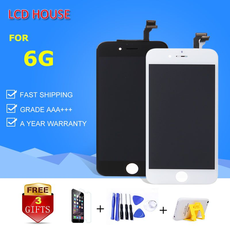 100% Grade AAA Display For iPhone 6 6G LCD Screen with Touch Digitizer Full Assembly Replacement White Black A1549 A1586 A1598