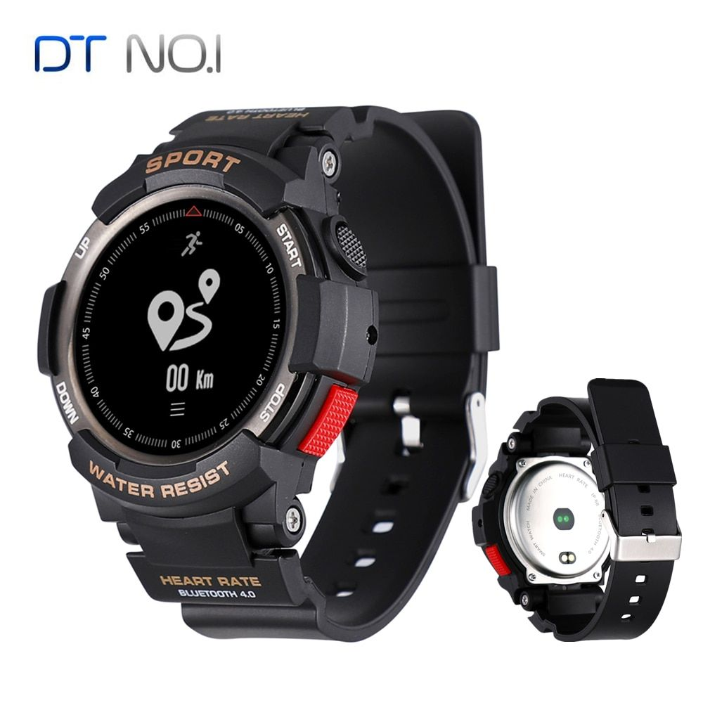 NO.1 F6 IP68 Waterproof Smart Watch NRF51822 Sleep Monitor Remote Camera Watch Men Outdoor Sports Smartwatch for iOS Android