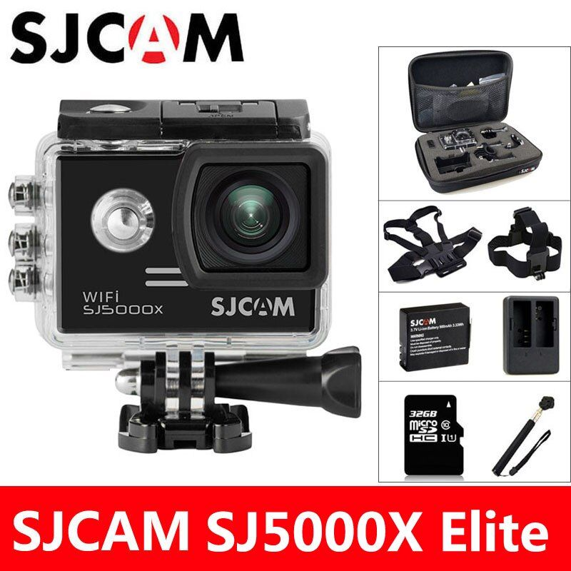 SJCAM SJ5000X Elite Action Camera 4K WiFi Sports DV Diving 30M Waterproof 1080P HD NTK96660 Gyro 2.0 Screen Original SJ CAM 5000