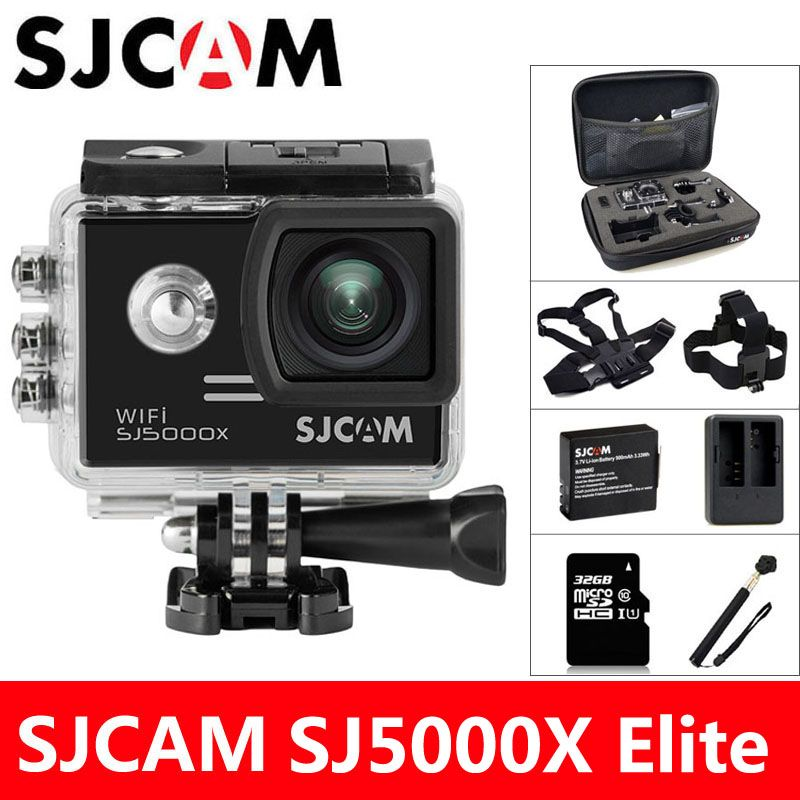 SJCAM SJ5000X Elite Caméra D'action 4 k WiFi Sports DV Plongée 30 m Étanche 1080 p HD NTK96660 Gyro 2.0 écran D'origine SJ CAM 5000