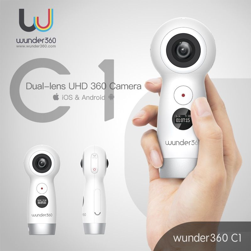 Wunder360 Panoramic Video Camera 360 WiFi Action Cam 360 Camera 4K Panorama camara Live Stream VR Camera for iOS & Android OPPO