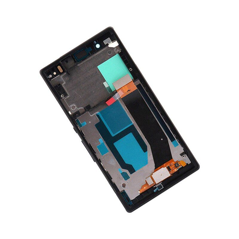 Black For Sony Xperia Z L36h L36i C6606 C6603 C6602 C6601 Full LCD Display Panel + Touch Screen Digitizer Sensor Assembly Frame