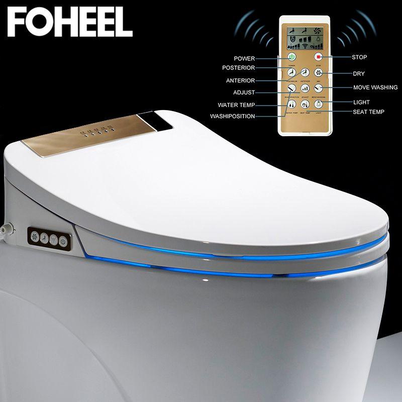LCD 3 Farbe Intelligente Toilette Sitz Dusch-wc Längliche Elektrische Bidet Abdeckung Smart Bidet Heizung Sitzt Led Licht Wc