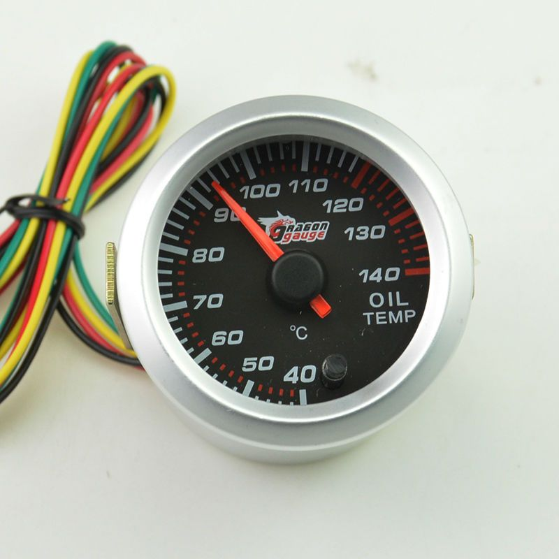 52mm  Auto Stepper moto  self-test function oil temperature gauge  pointer type instrument 7 colour backlight free shipping
