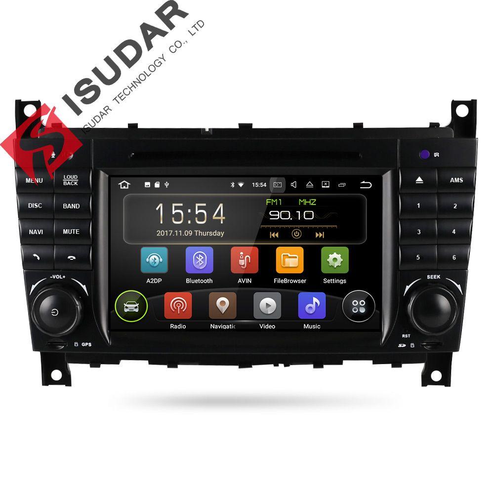 Isudar Car Multimedia Player GPS Android 7.1 2 Din DVD Automotivo For Mercedes/Benz/Sprinter/W203/A180/Viano/Vito/A-class Radio