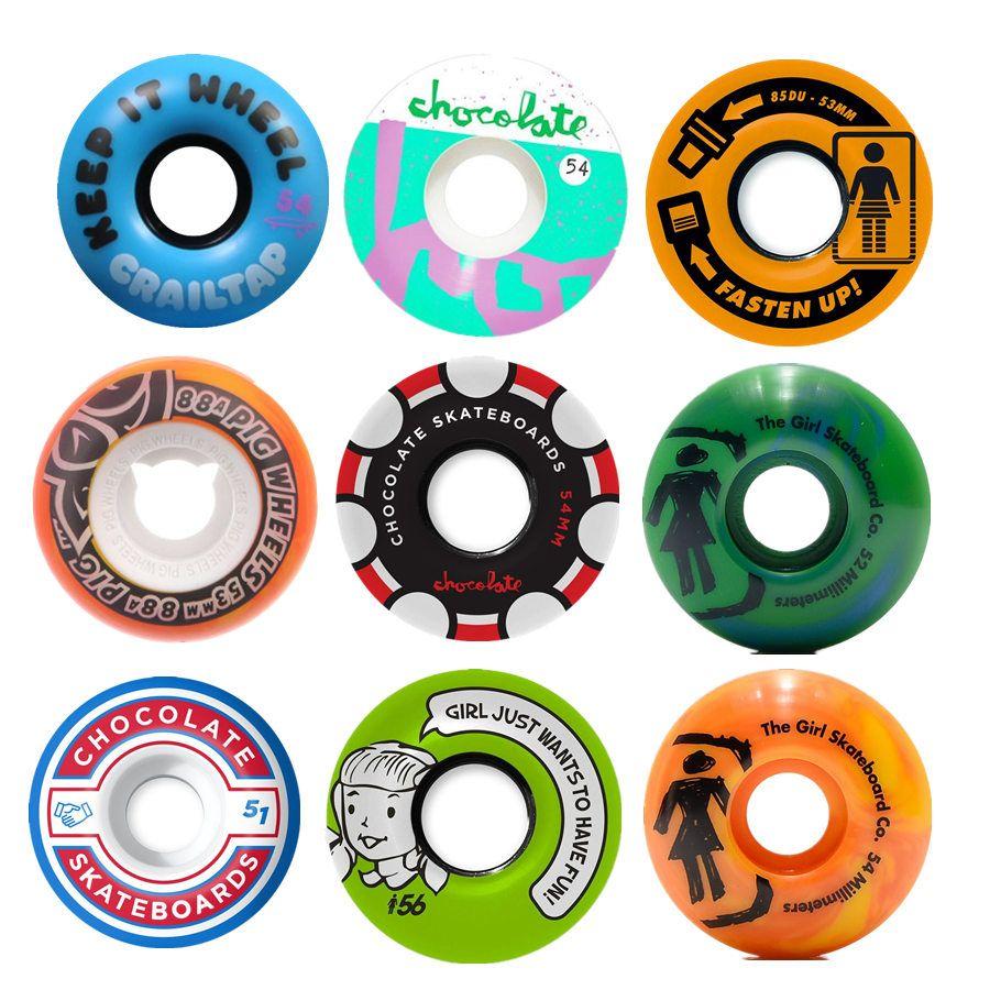 Nouveauté Pro USA Skateboard Roues 52/53/54/55/56mm Planche À Roulettes PU Ruedas Patines Agressif Rodas Roue 4 pièces