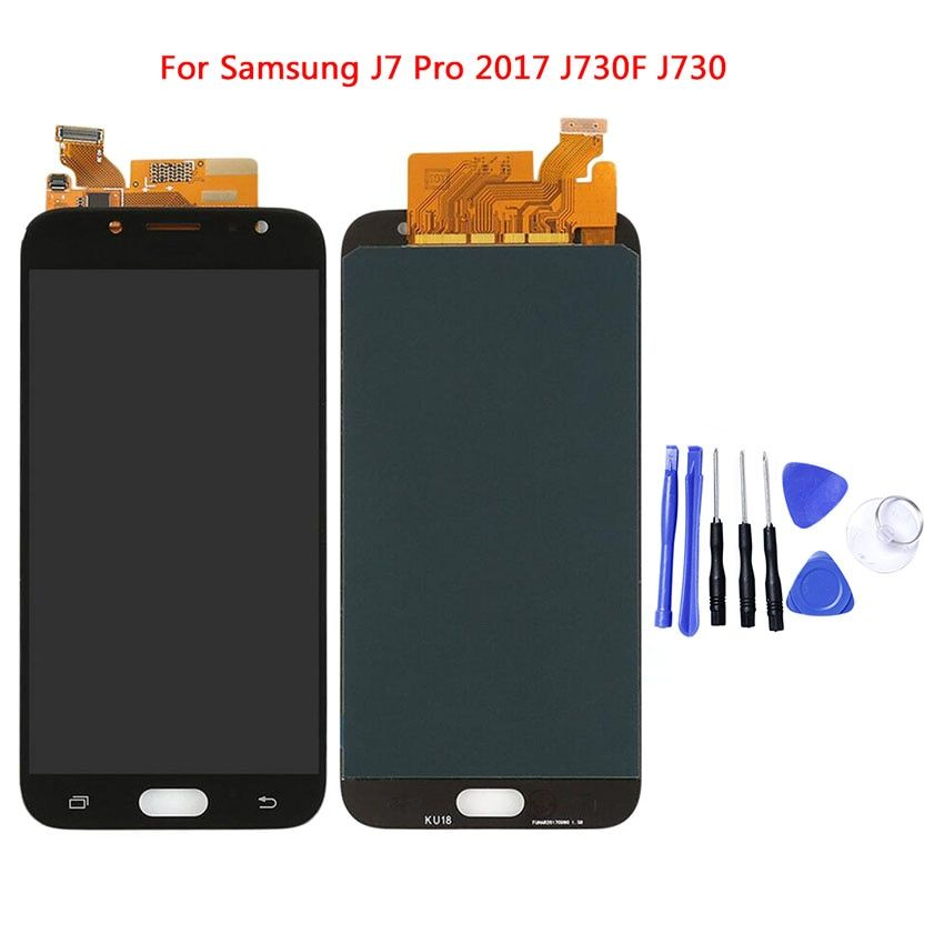 LCDs For Samsung Galaxy J7 Pro 2017 J730 J730F LCD Display with Touch Screen Digitizer Assembly For SAMSUNG J730 TFT LCD
