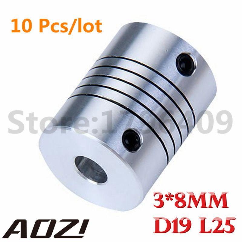 10pcs/lot OD19MMxL25mm Flexible Coupling /Inner 3x8mm Flexible Shaft /Free Shipping