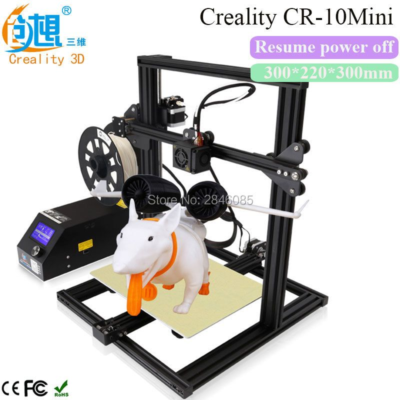 2017 Newest CREALITY 3D CR-10 Mini Full Metal Frame Large 3D Printer Support Resume Printing after power off 3D Printer DIY Kit