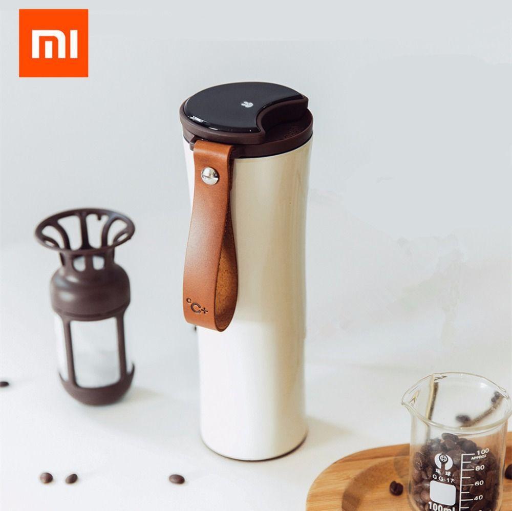 D'origine Xiaomi Mijia Baiser Baiser Poissons En Acier Inoxydable Sous Vide Thermique Bouteille D'eau Sensible Capteur de Température avec Café Brasseur
