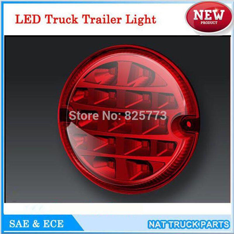 12 V/24 V Rond 95mm lumière LED de remorque Camion Antibrouillard feu-marche arrière Queue Feu stop Tour Voiture Arrière LED Lumières Sécurité Routière Brouillard Lampe ECE