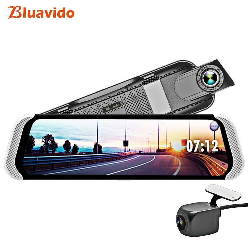 Bluavido 10 Zoll 4G Android Rückspiegel DVR 1080 P Dash Kamera GPS Navigation ADAS nachtsicht Dual Objektiv auto video recorder