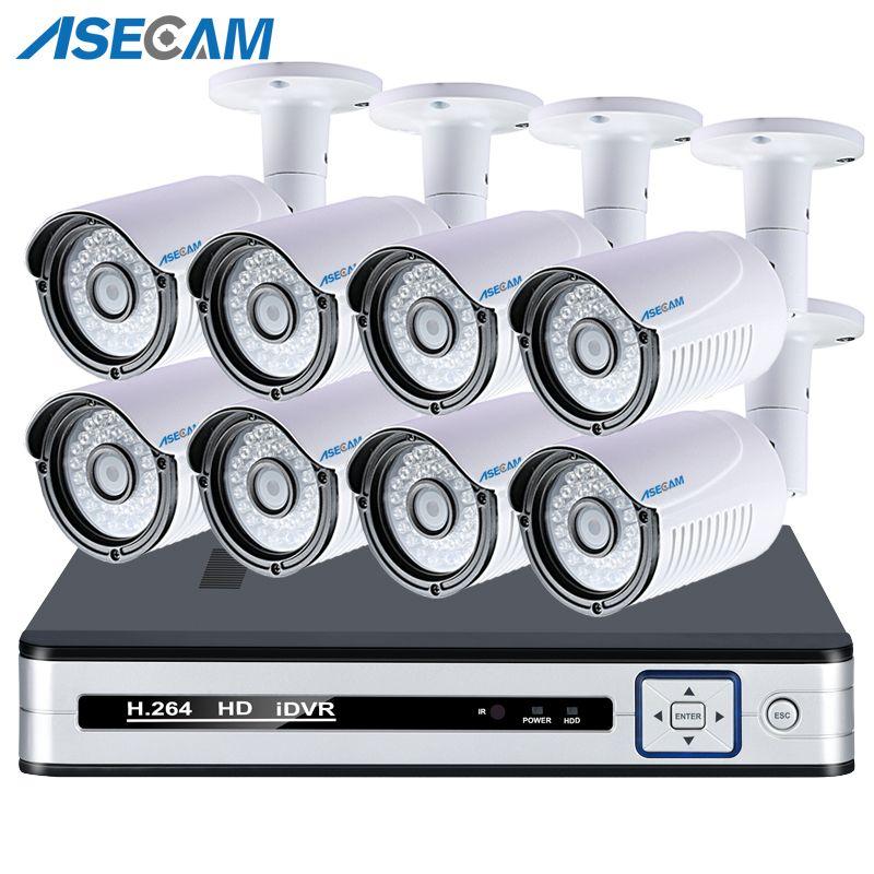 Super HD 4 K HDMI POE NVR System Kit 5MP Outdoor H.265 IP Kamera P2P Video Sicherheit Überwachung APP Ansicht bewegungserkennung
