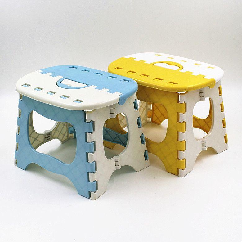 Tabouret pliant en plastique bleu jaune 6 Type épaissir l'étape pouf Portable meubles de maison enfant commode tabourets de dîner