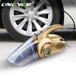 Onever 4 in 1 Multi-function 120W Wet And Dry Dual Use Car Vacuum Cleaner Tire Inflator Pump Auto Air Compressor with LED Light