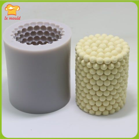 LXYY high quality handmade soap silicone mold  silicone soap model  DIY candle mold pearl  pearl particles 1.0cm