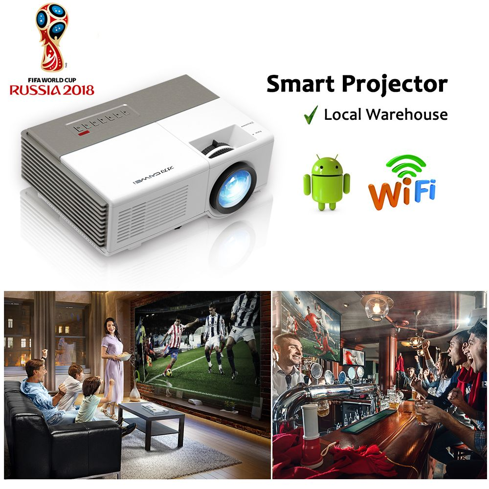 CAIWEI Portable Projector wifi Android Portable Lcd led projector full HD 1080P home cinema theater Video Proyector for labtop