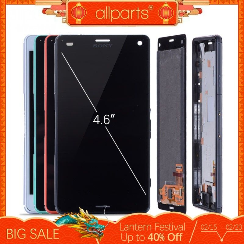 ORIGINAL LCD For SONY Xperia Z3 Compact Display Touch Screen with Frame Z3 Mini D5803 D5833 For SONY Xperia Z3 Compact LCD #2