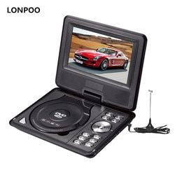 LONPOO Portable DVD Player 7 Inch Dvd Player Divx Usb RCA Portable TV DVD Player With Battery MP3 MP4 GAME DVD Player Portable