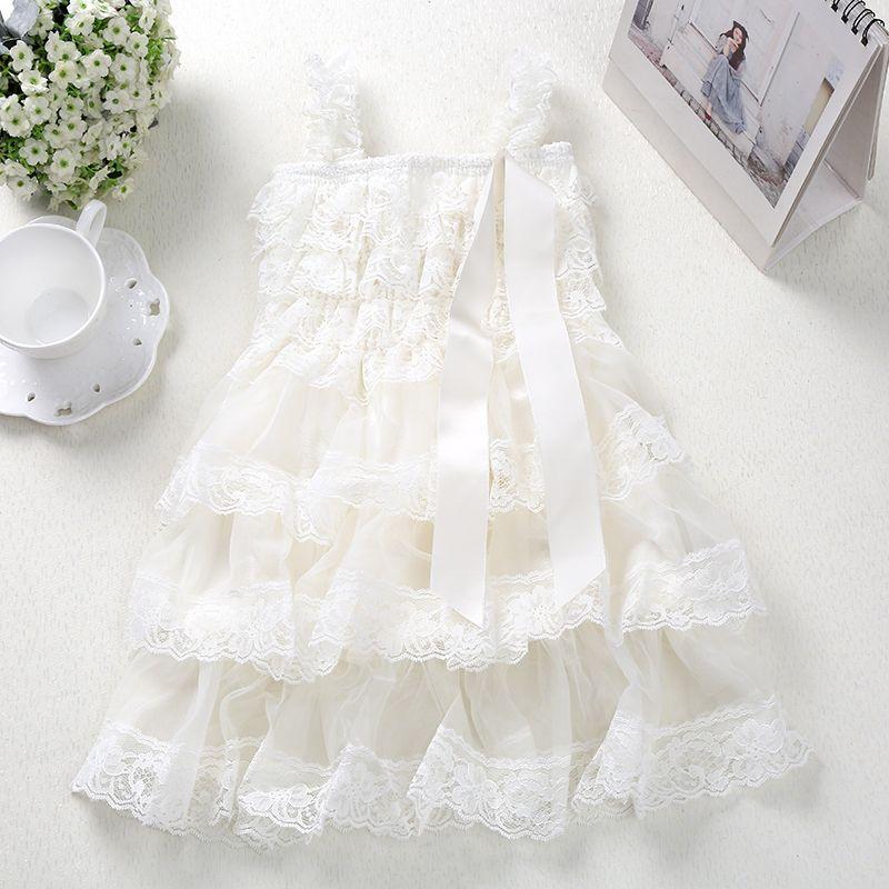 Bébé filles princesse dentelle robe de soirée moelleux 3 couches fleur fille robes bébé sans manches mariage Pageant fête costumes vêtements