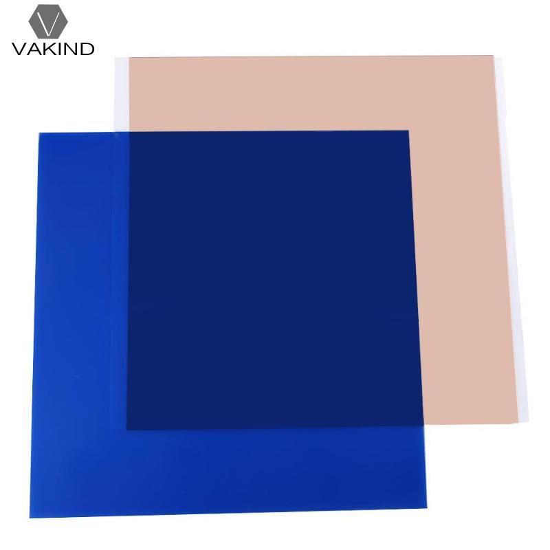 300*300*0.3mm Bleu PEI Feuille Polyétherimide Feuilles pour 3D Impression avec 468MP Ruban Adhésif 3D Pièces accessoires